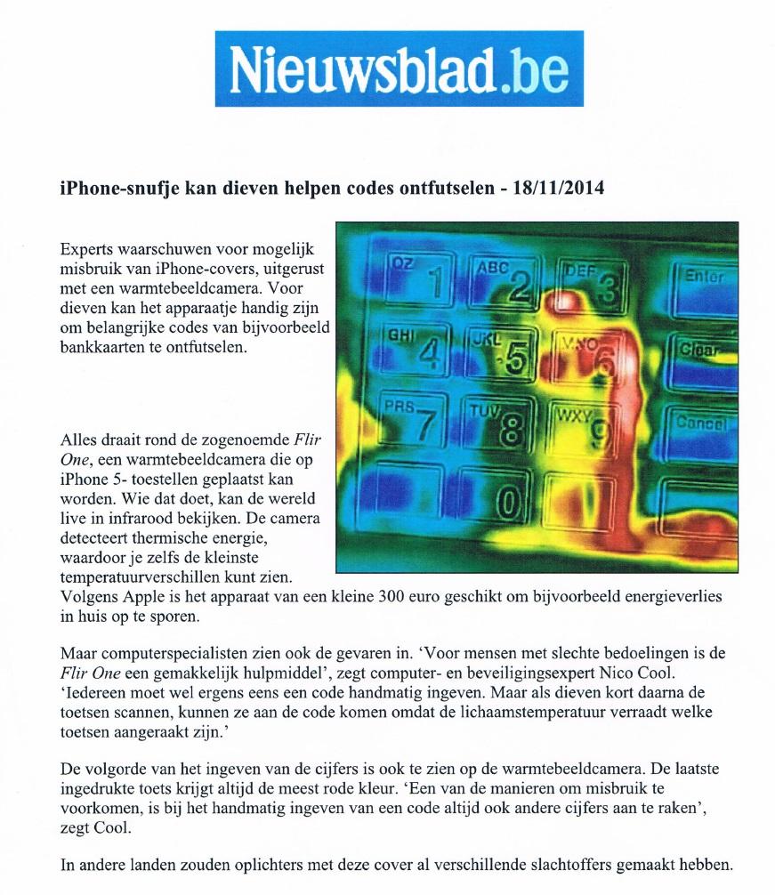 Warmtecamera Nieuwsblad