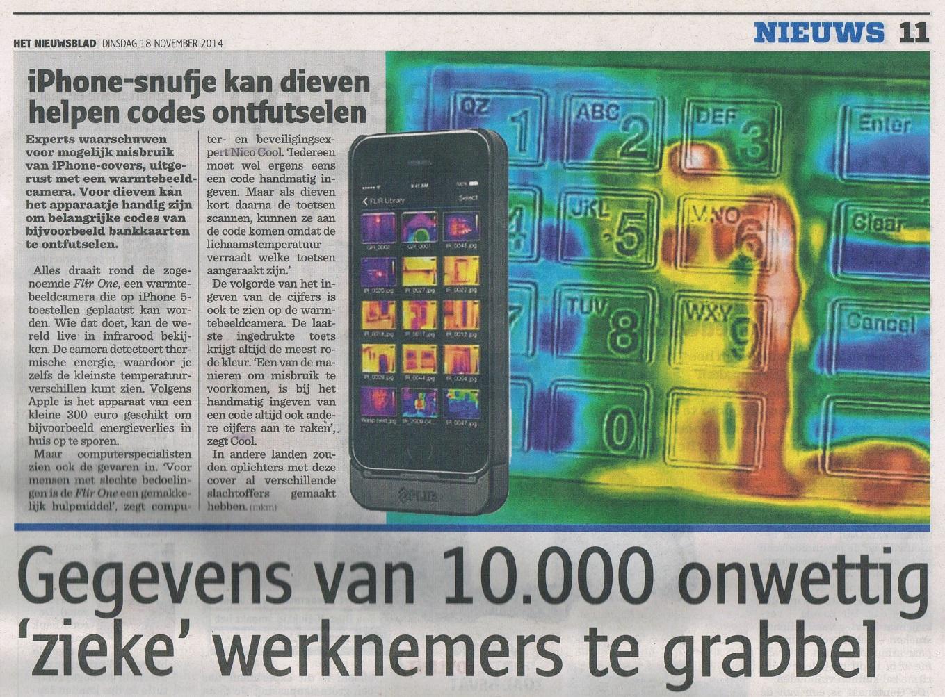 Warmtecamera Nieuwsblad2